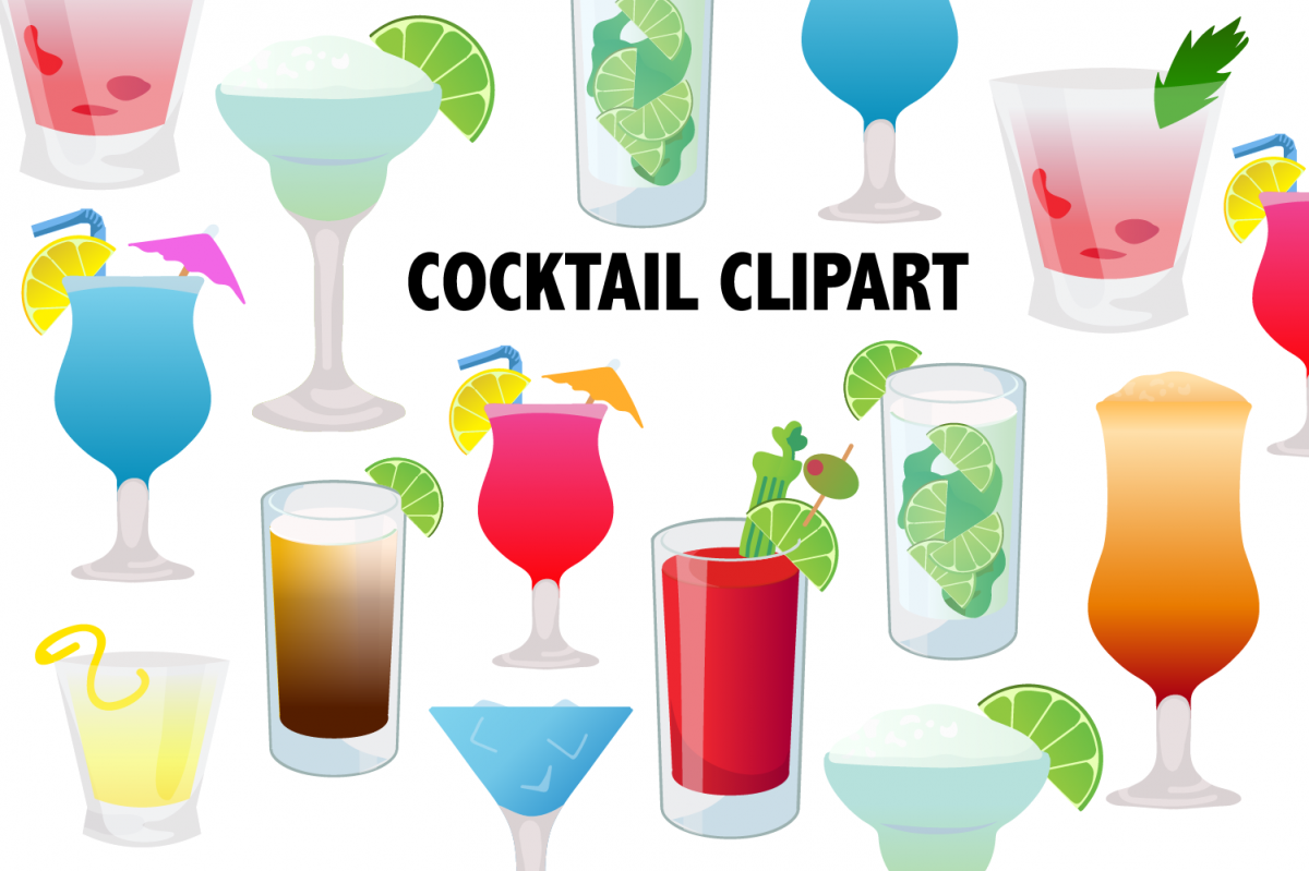 Cocktail Clipart example image 1