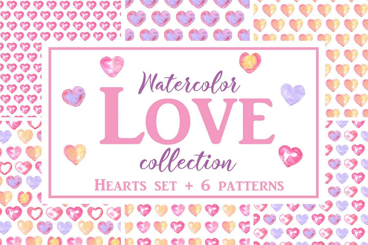 Watercolor Love collection example image 1