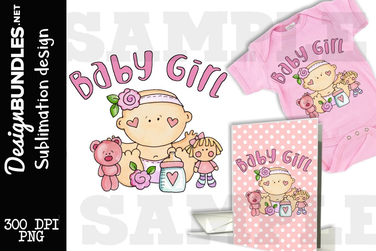 Baby Girl Sublimation Design example image 1