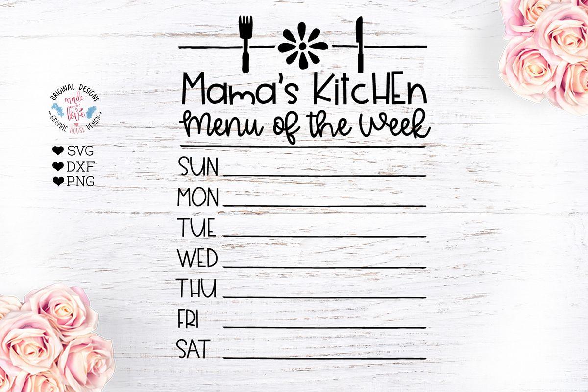 Mama's Kitchen Menu of the Week example image 1