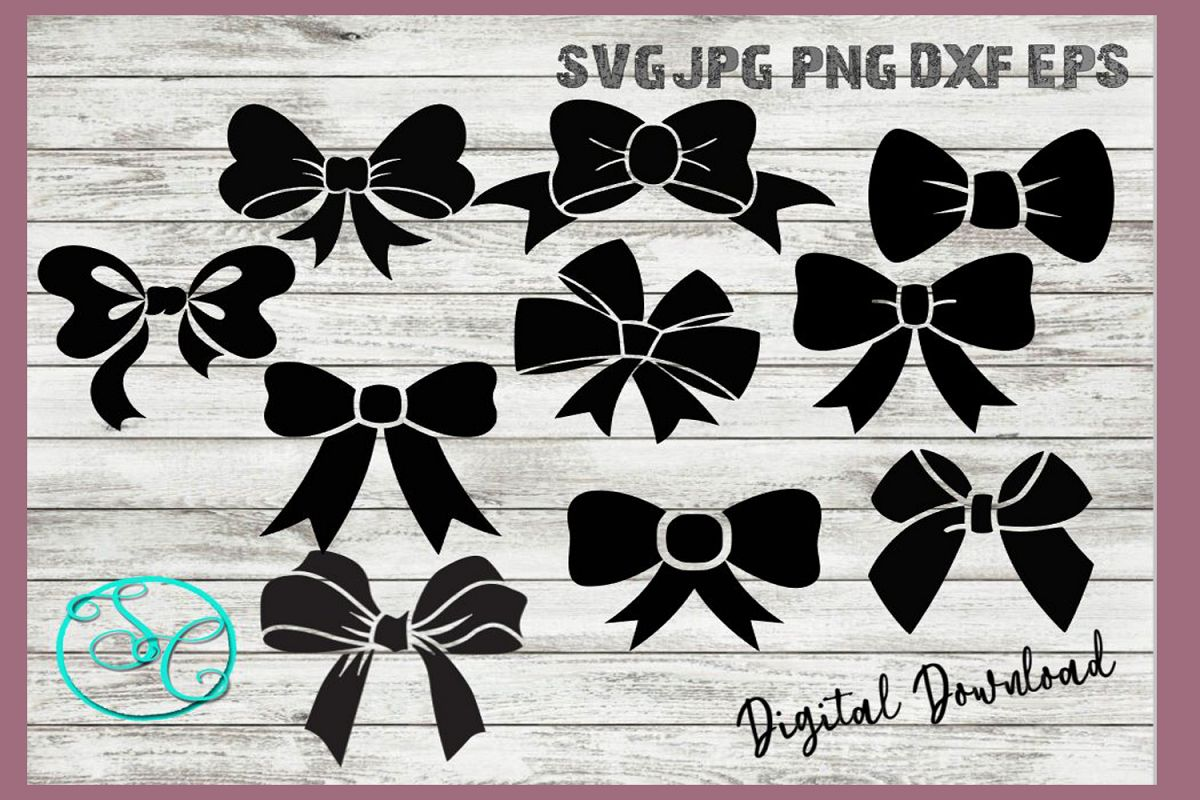 Hair Bows Gift Bows SVG example image 1