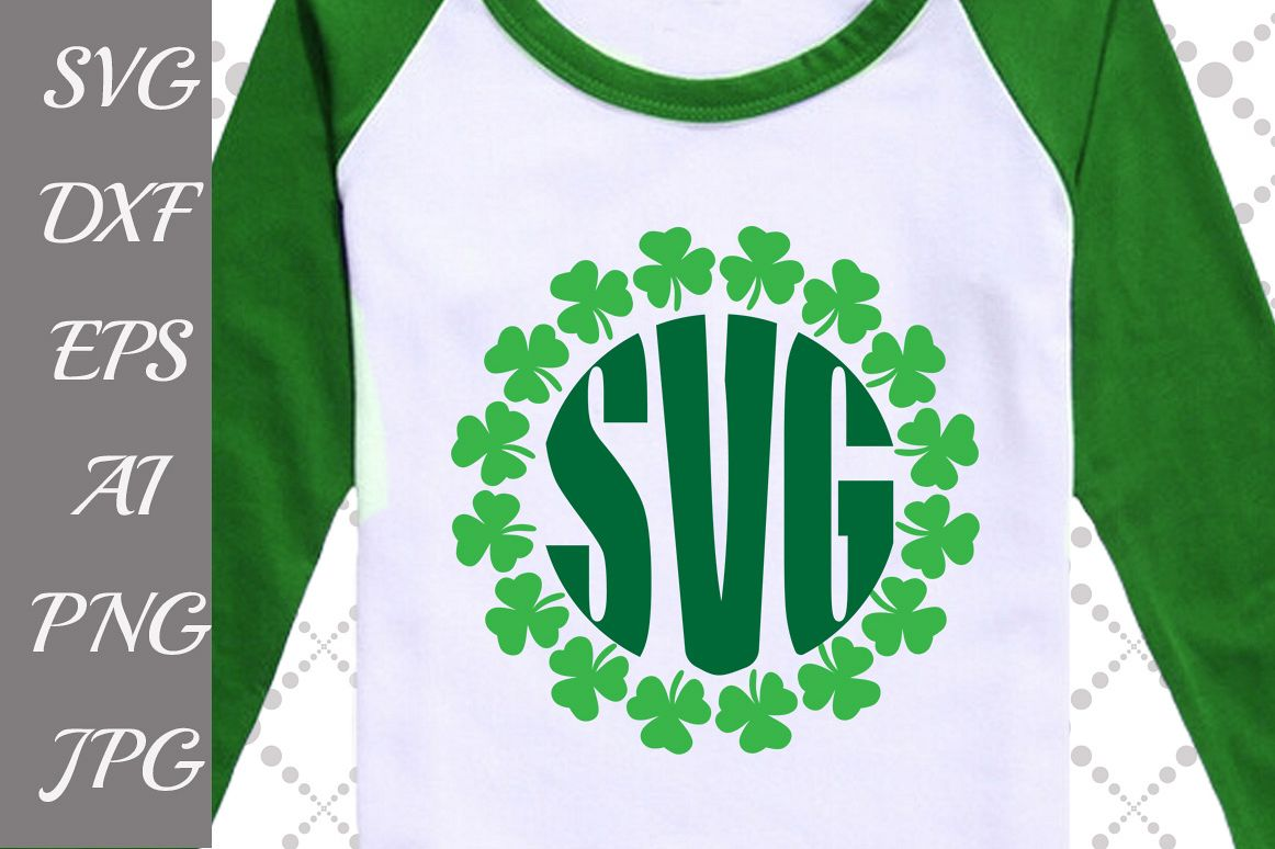 Clover Monogram Svg example image 1