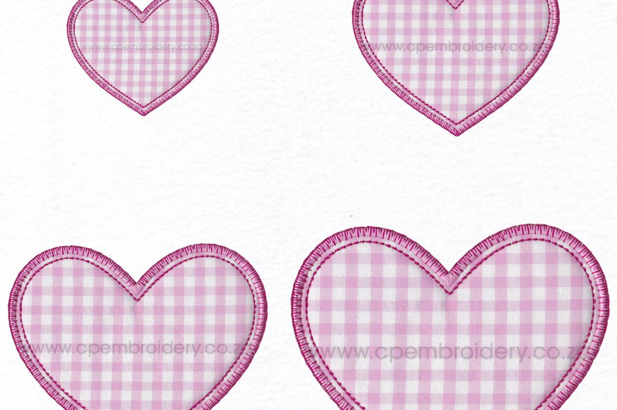 Simple Valentine Heart Applique Design Design Bundles