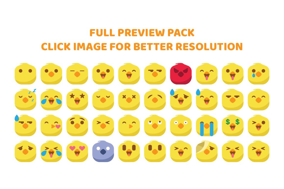Chicken Cute Emojis example image 1