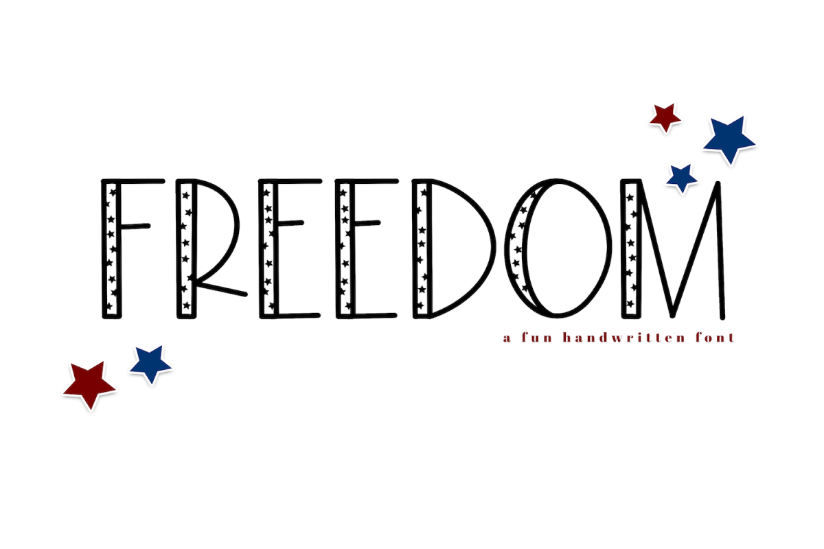 Freedom - A Fun Patriotic Font example image 1