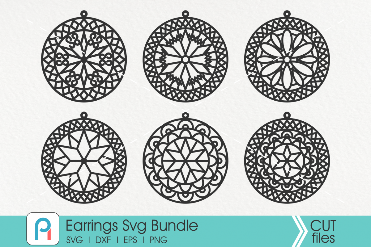 Leather Earrings Svg, Earrings Svg, Faux Leather Earring Svg example image 1