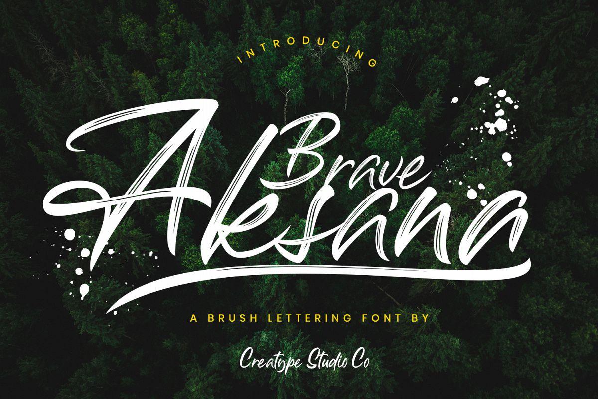 Aksana Brush Script example image 1