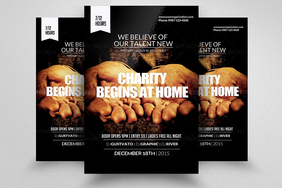 charity donation flyer templates example image 1