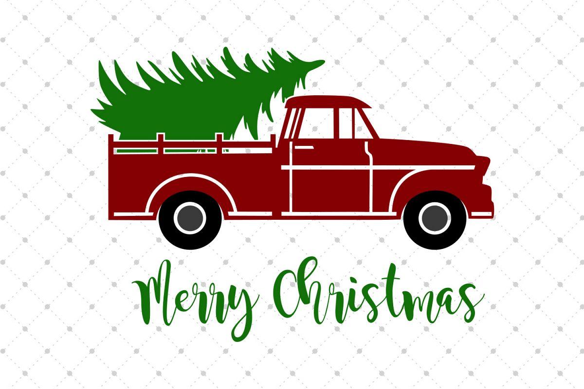Christmas Tree Truck Svg Free.Christmas Tree Truck Svg Cut Files