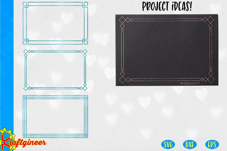 Single Line Frames SVG | Single Line SVG |Foil Quill example image 1