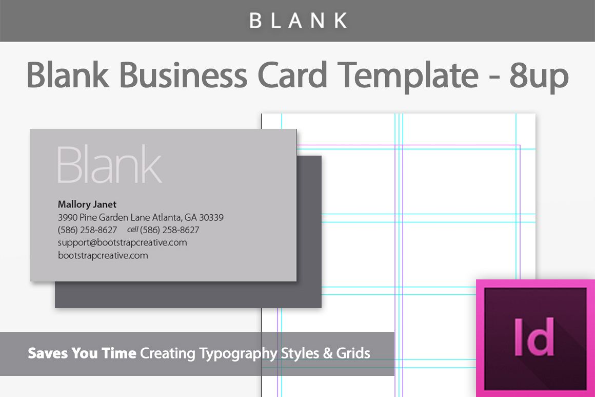 Blank business card indesign template b design bundles blank business card indesign template example image wajeb Images