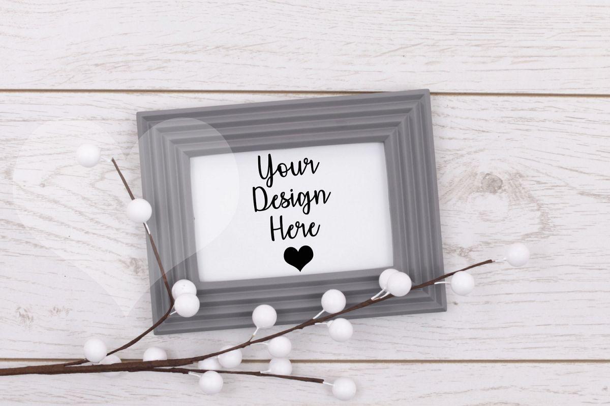 Styled Frame Mockup, Grey Frame Mockup, Styled Stock Photo example image 1