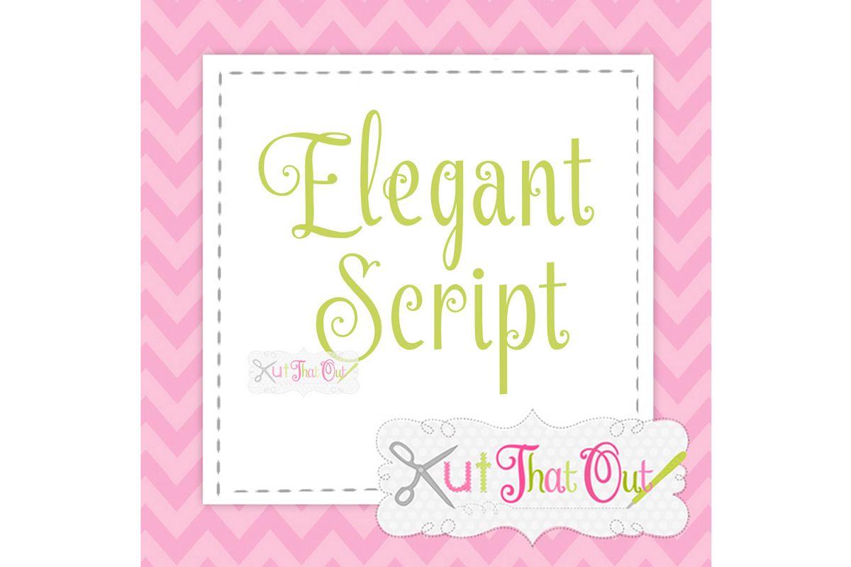 EXCLUSIVE Elegant Script SVG & DXF Cut File example image 1