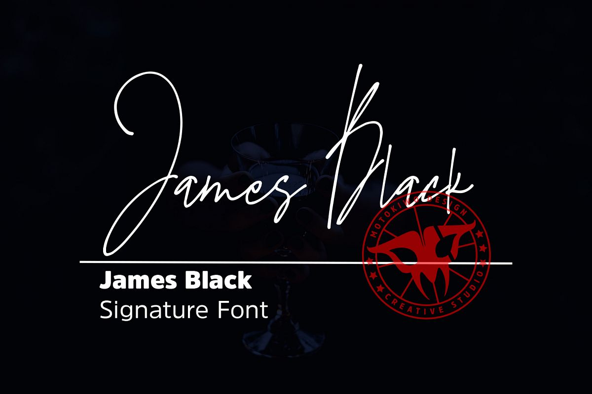 James Black Signature Font example image 1