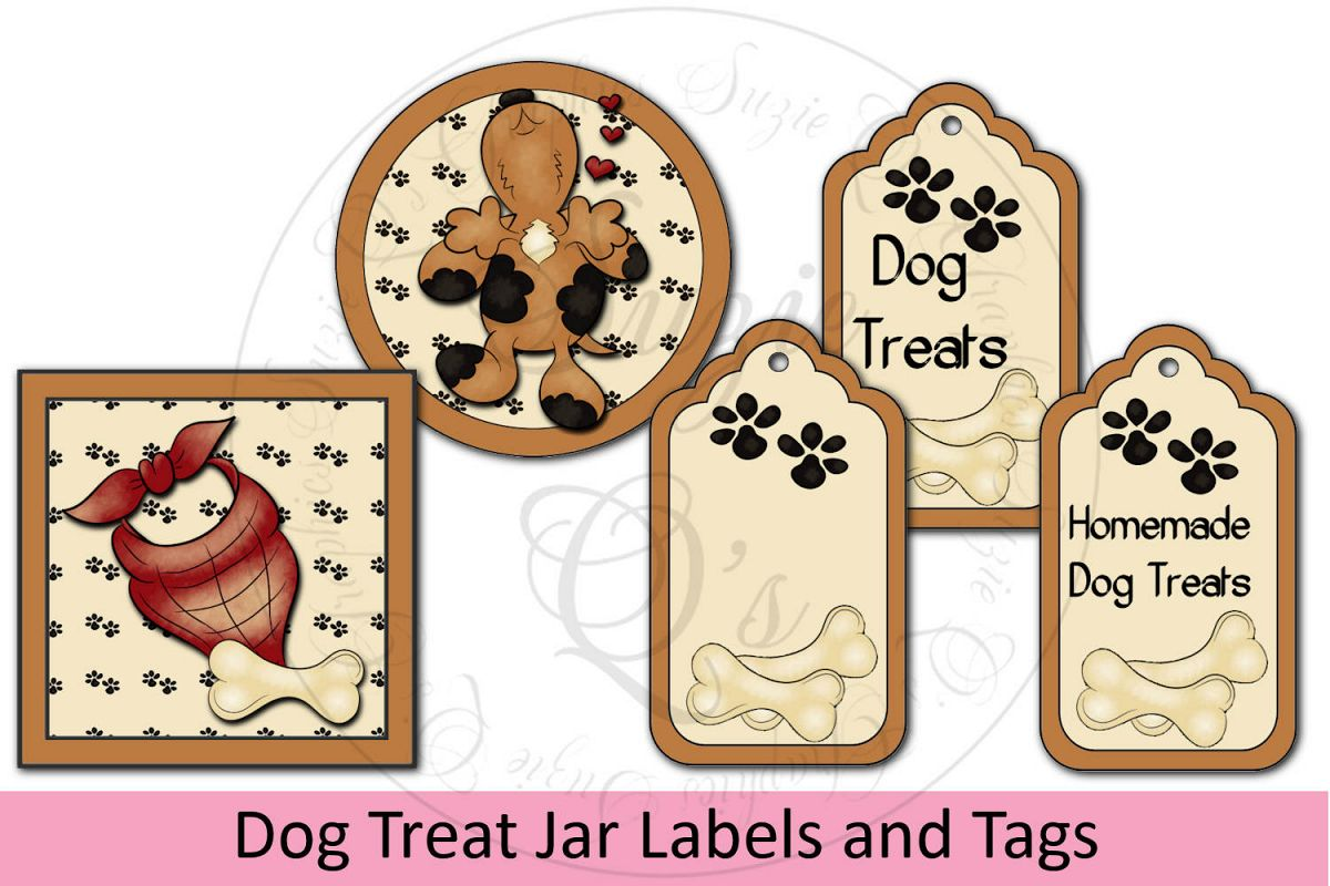 Dog Treat Jar Kit - labels & tags example image 1