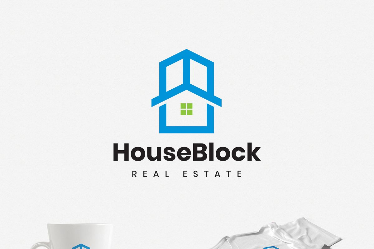 House in a Building Real Estate Logo example image 1