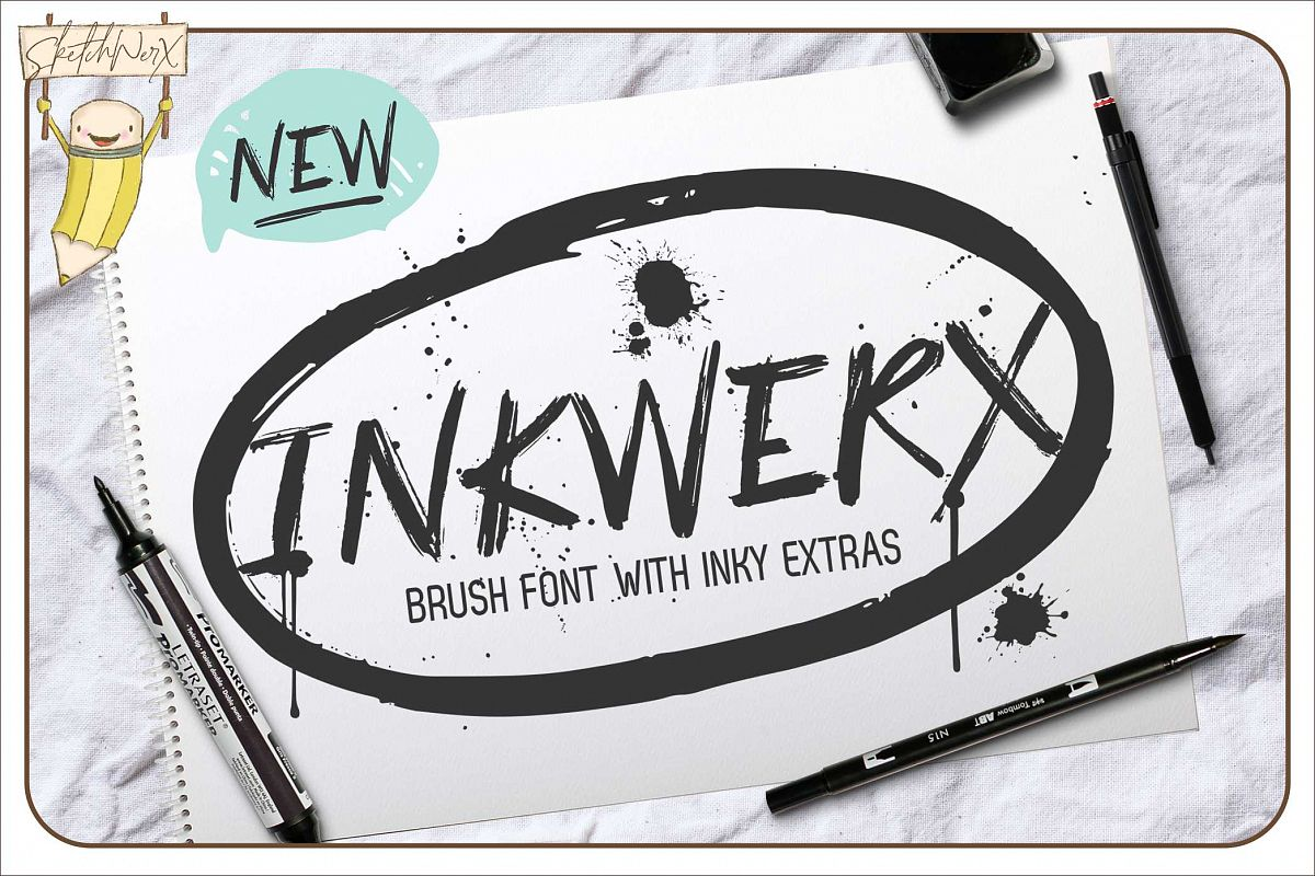 InkWerx Font & Extras example image 1