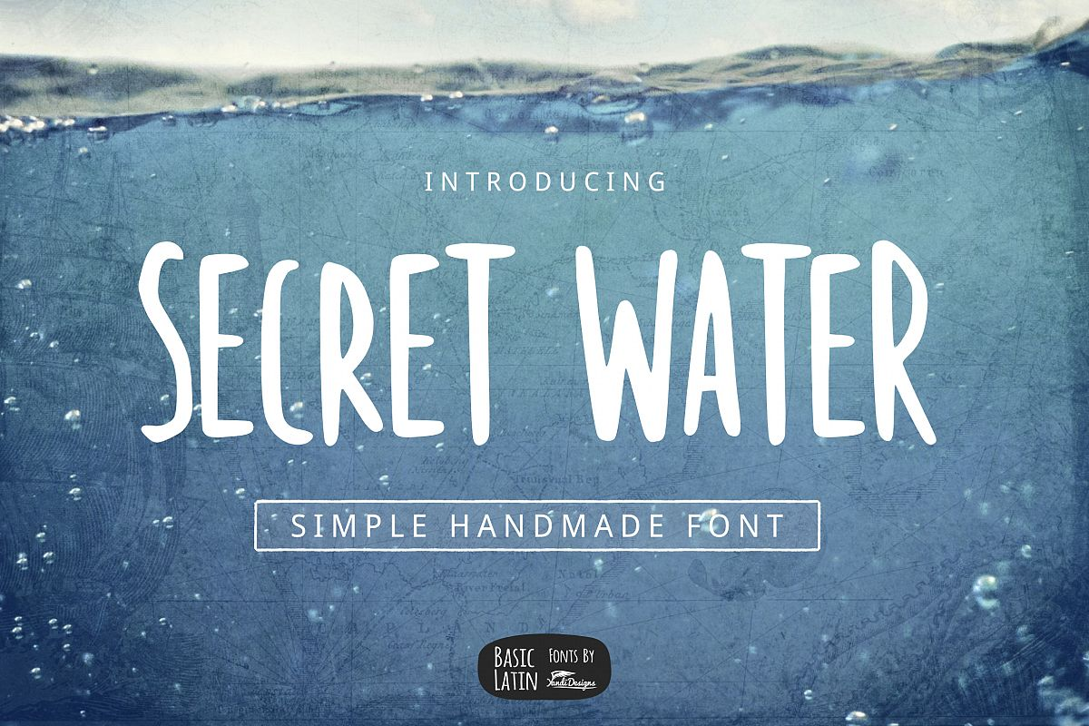 Secret Water Simple Font example image 1
