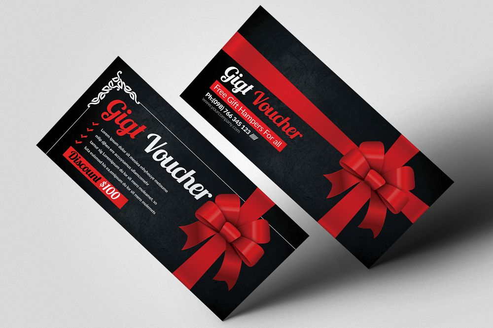 Multi Use Business Ribbon Gift Vouchers example image 1