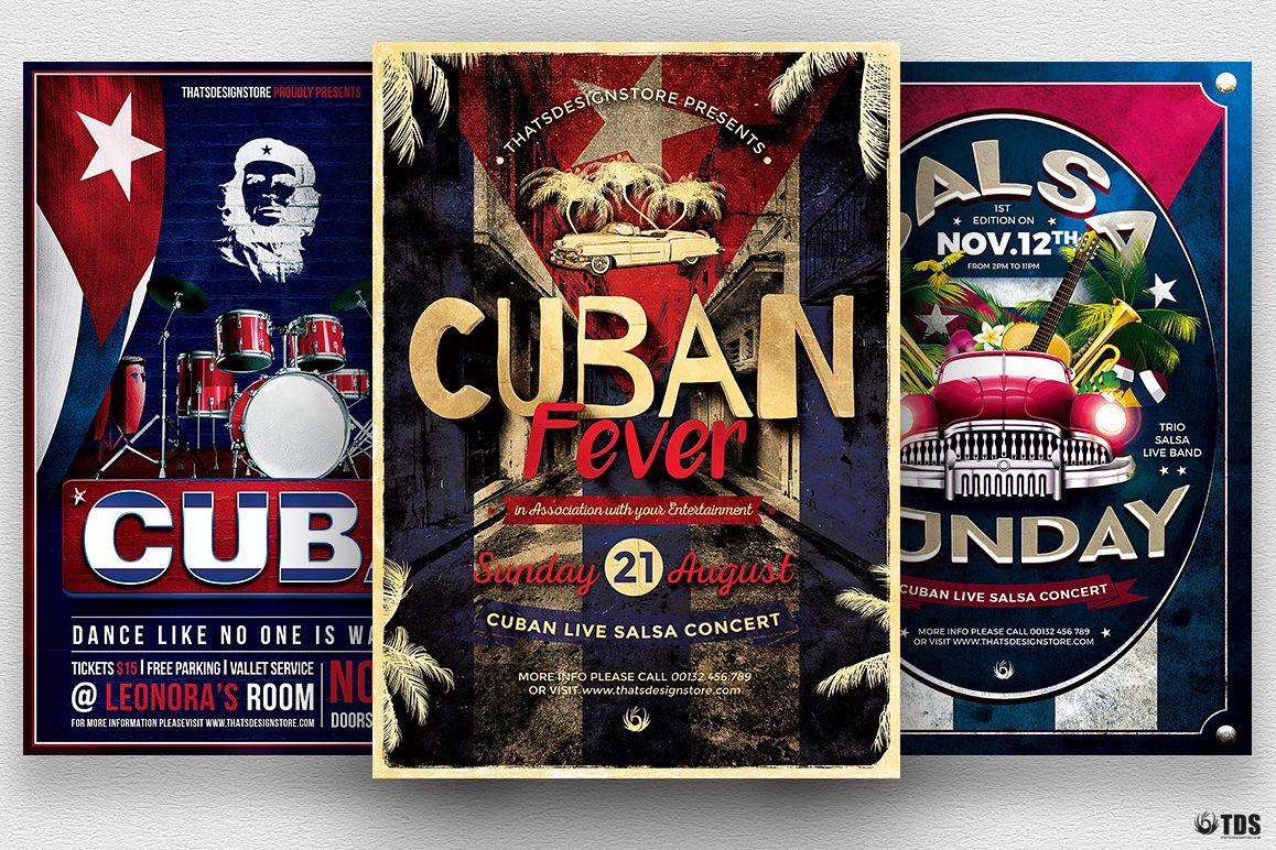 Cuban Flyer Bundle V2 example image 1