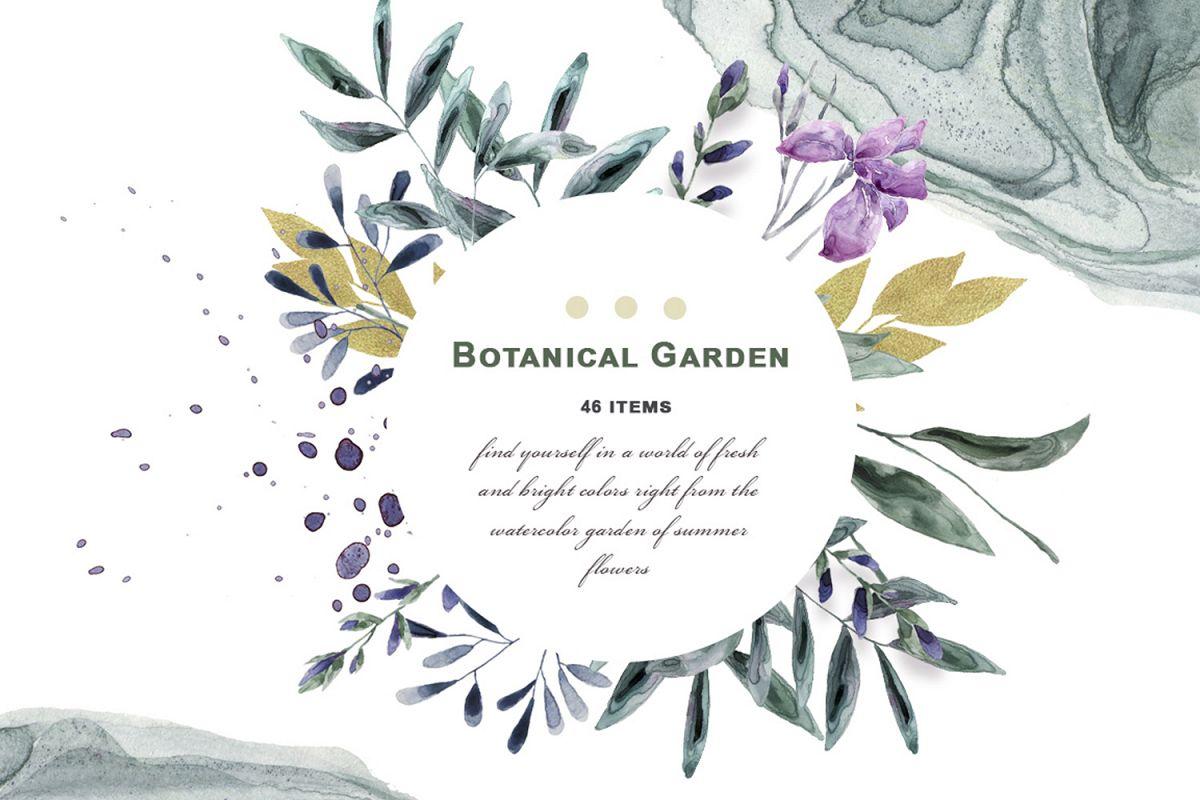 Botanical Garden Watercolor Set example image 1