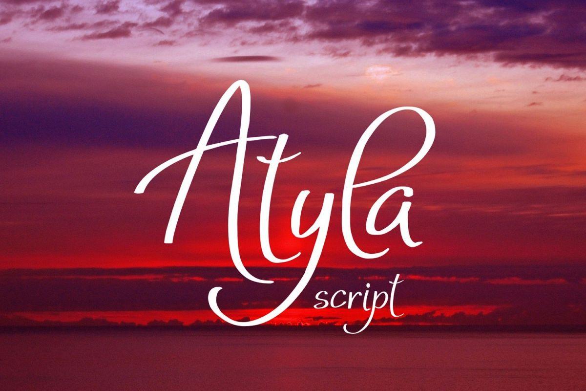 Atyla Font example image 1