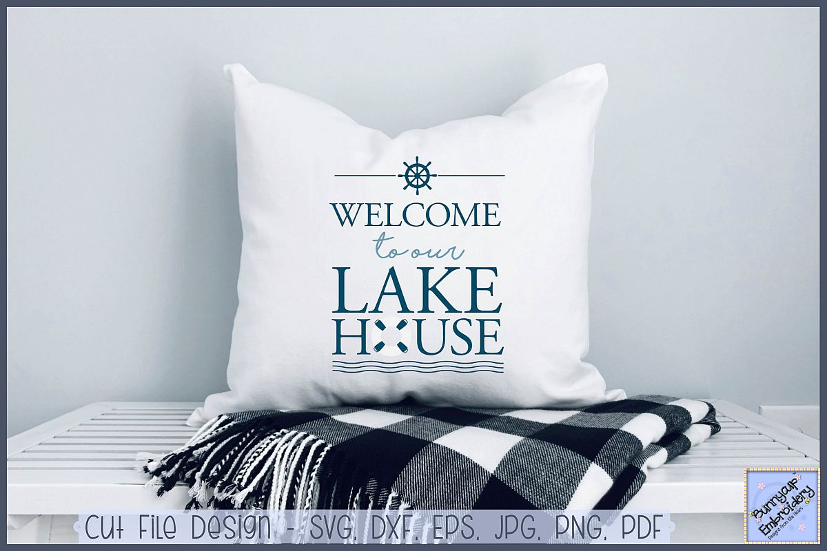Welcome To Our Lake House - SVG, Clipart, Printable example image 1