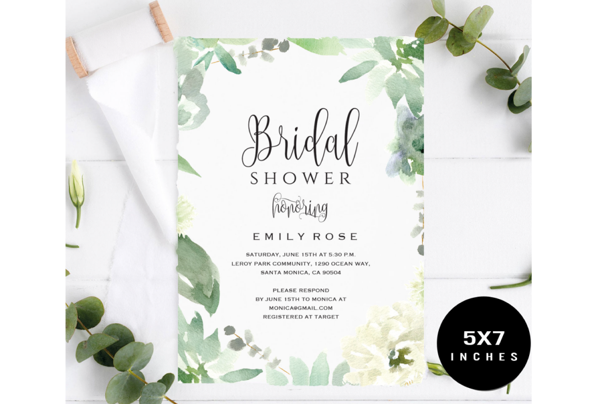 Bridal Shower Invitation Template example image 1