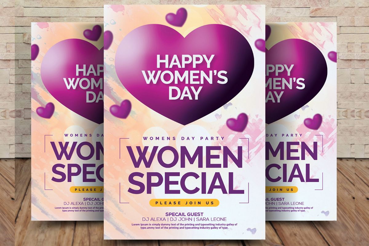 Happy Womens Day Flyer example image 1