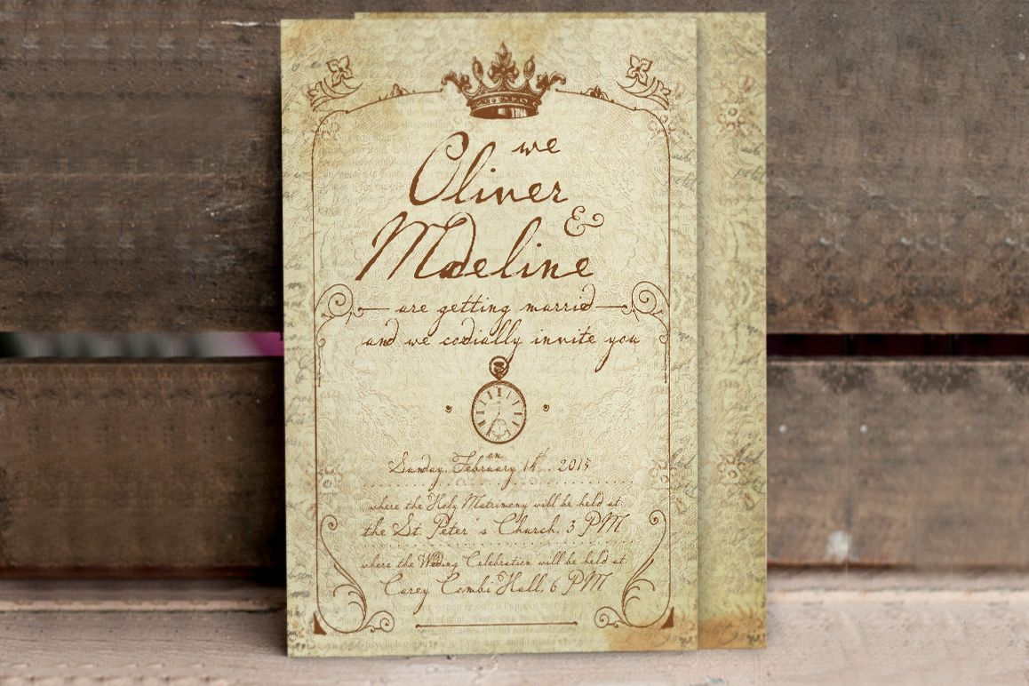 1900 Paris Wedding Invitation example image 1