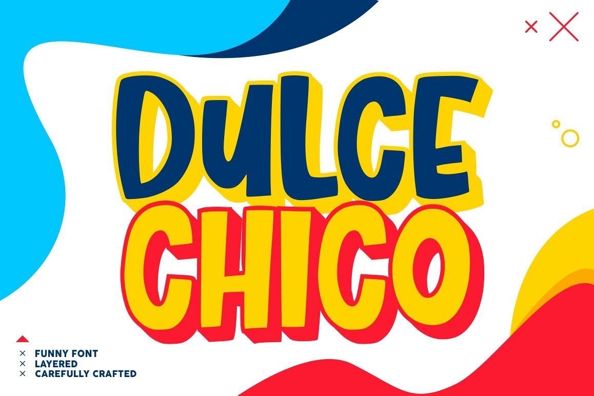 Dulce Chico || Display & Playful Font example image 1