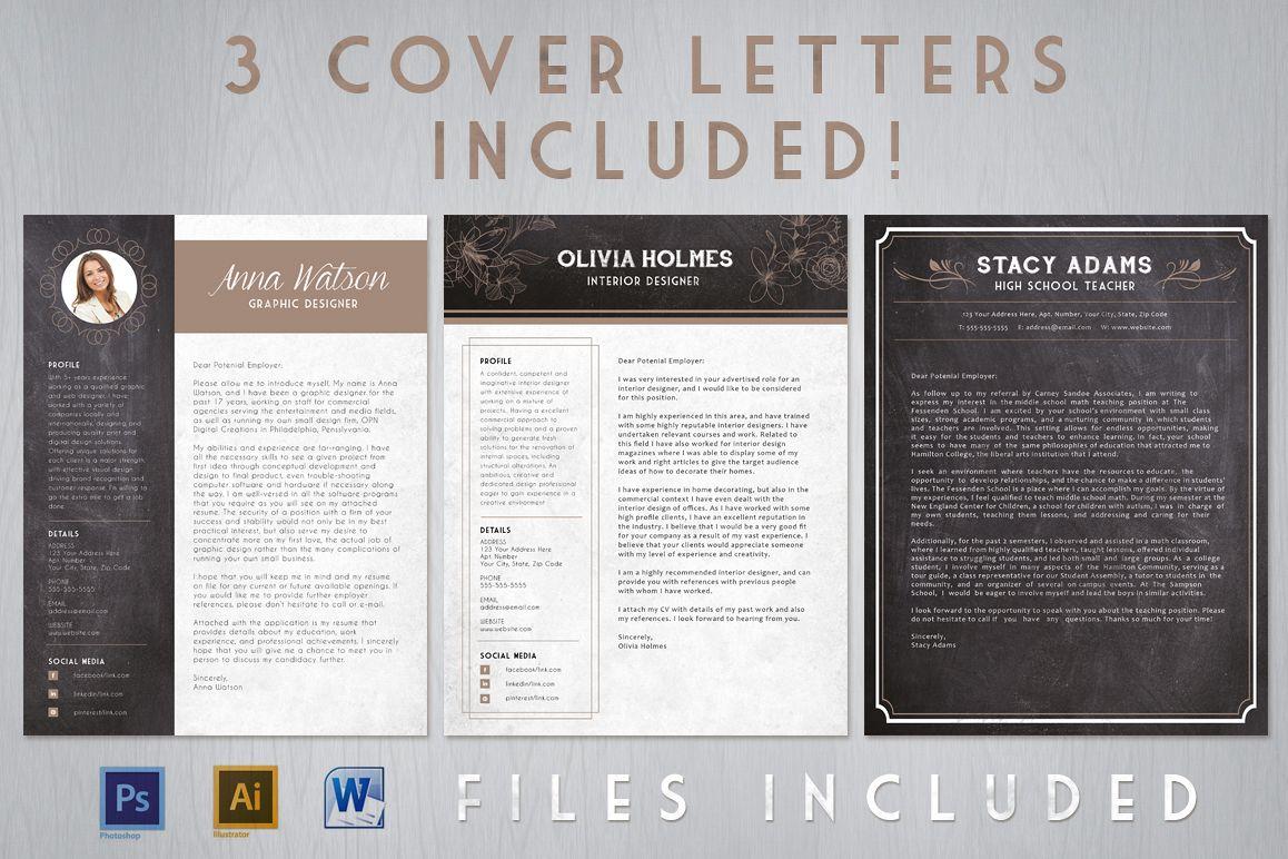 Chalk Resume Cover Letter Bundle example image 1