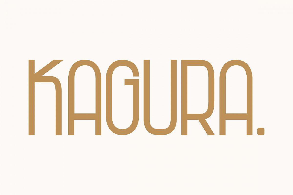 Kagura | Uniqe Sans Serif Fonts example image 1