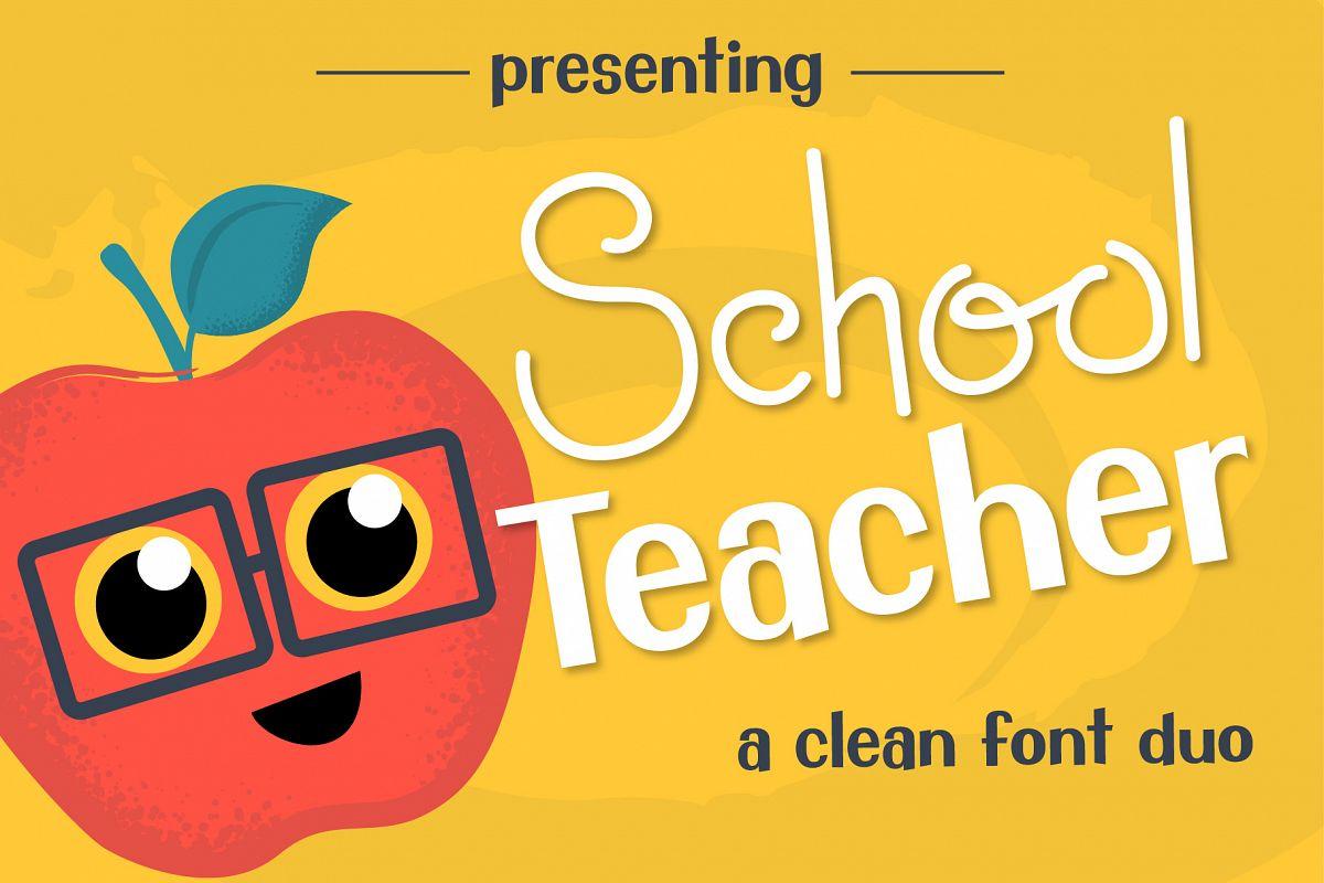 School Teacher Font Duo example image 1