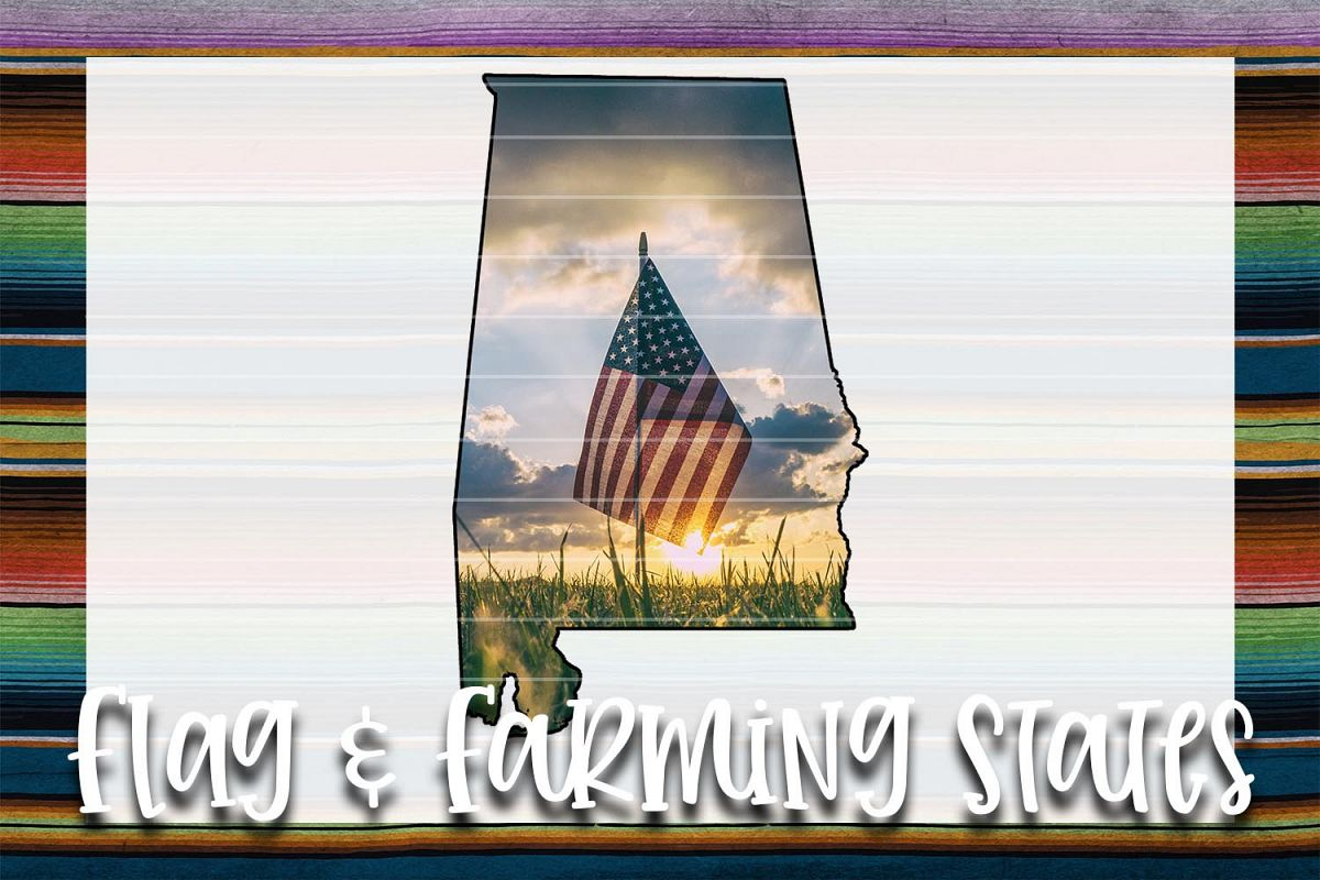 Flag & Farm AL Sublimation Digital Download example image 1