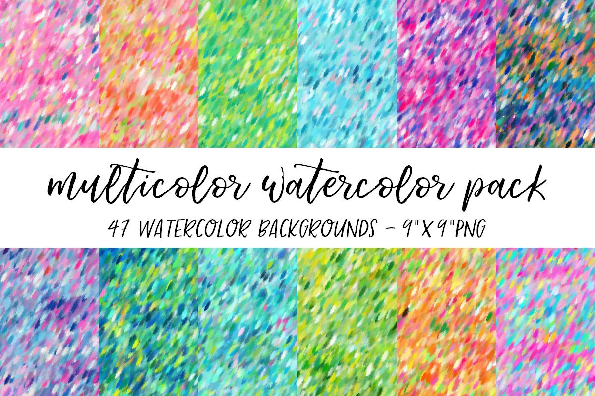 Multicolor Watercolor Backgrounds