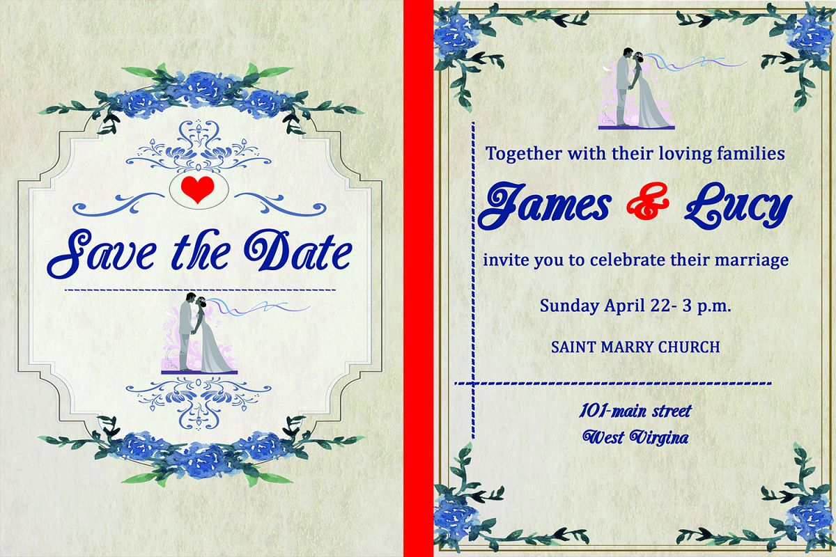 Classic wedding invitation card example image 1