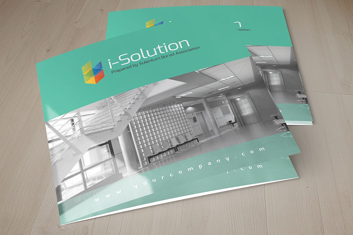 Business Solution Square Trifolde Brochure example image 1