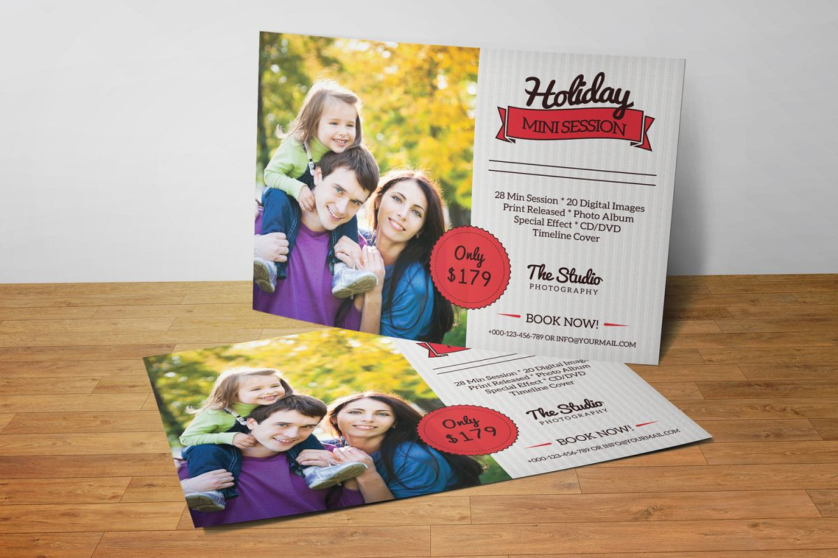 Holiday Mini Session Template-V3 example image 1