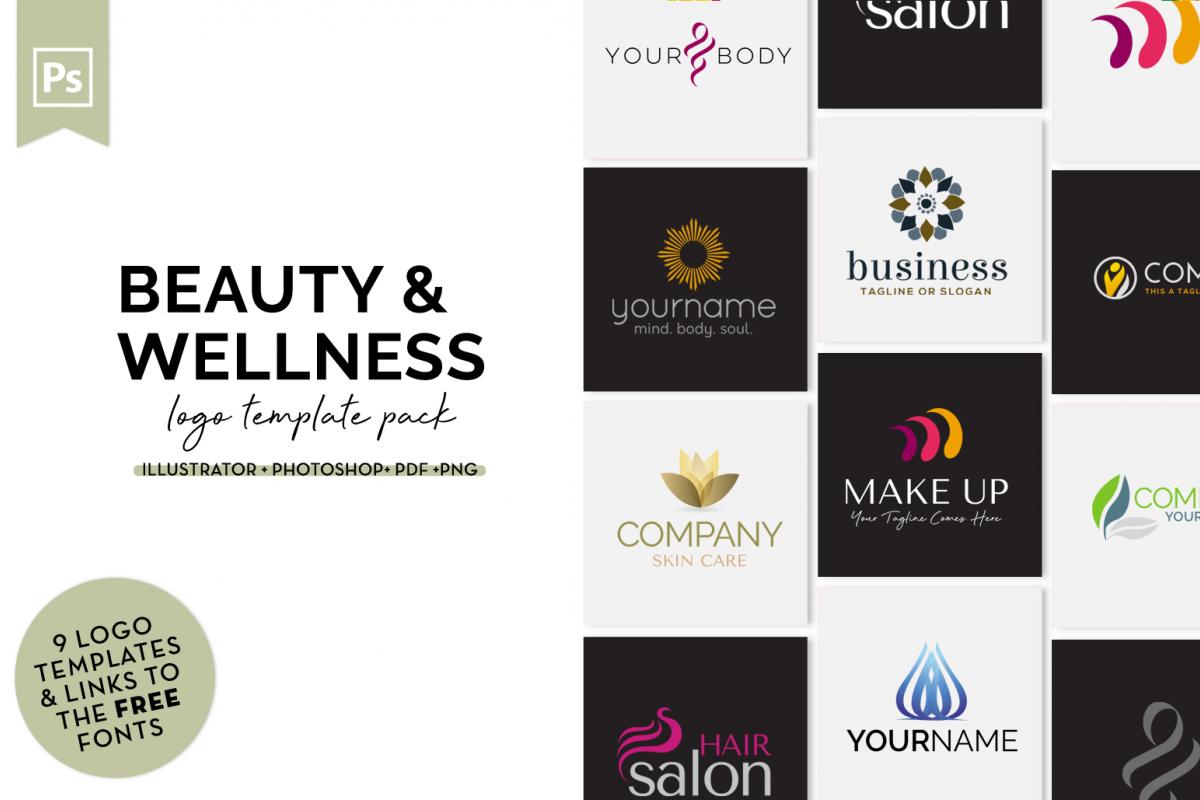 Beauty & Wellness Logo Design Set example image 1