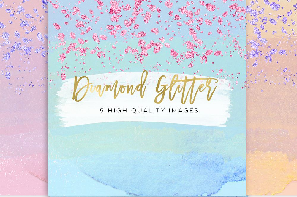 glam sticker paper, Planner Girl Clip Art paper scrapbooking paper, diamond colorful glitter fold confetti texture, Fashion Girl Clip Art example image 1