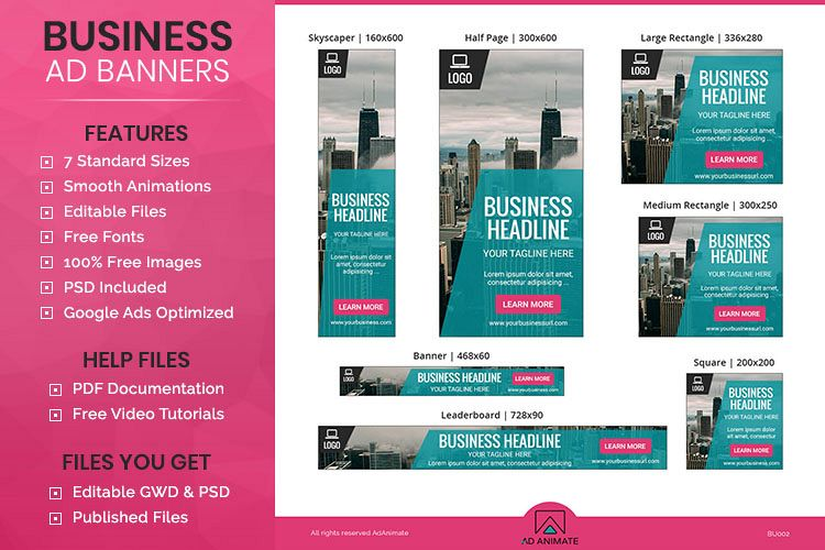 Business banner animated ad template bu002 viewing product business banner animated ad template cheaphphosting Gallery