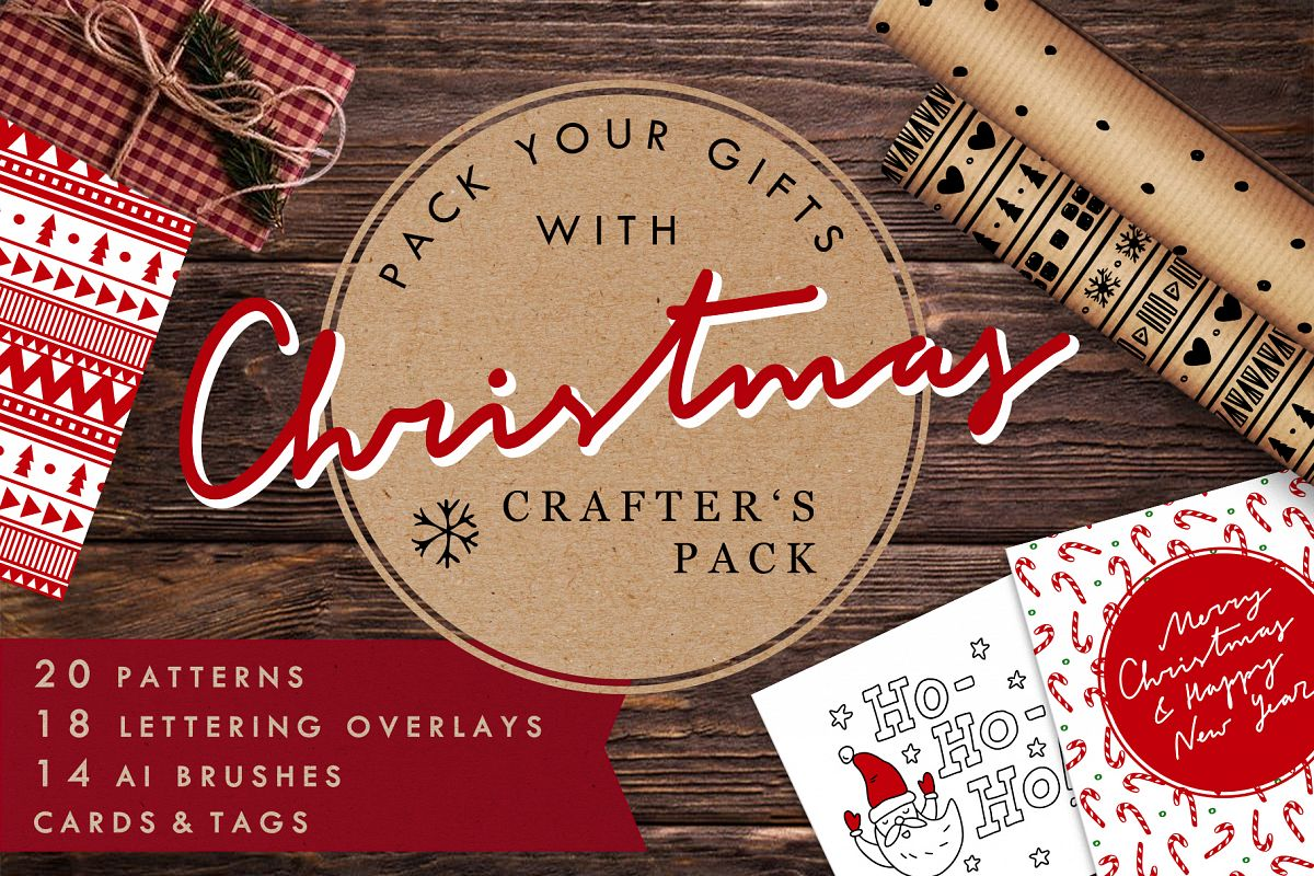 Christmas Crafters Pack for DIY projects example image 1