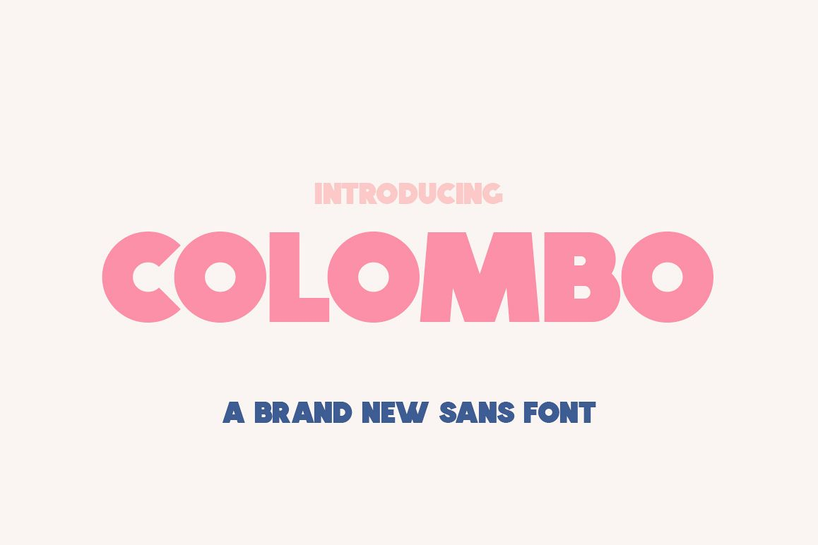 Colombo Sans Font example image 1