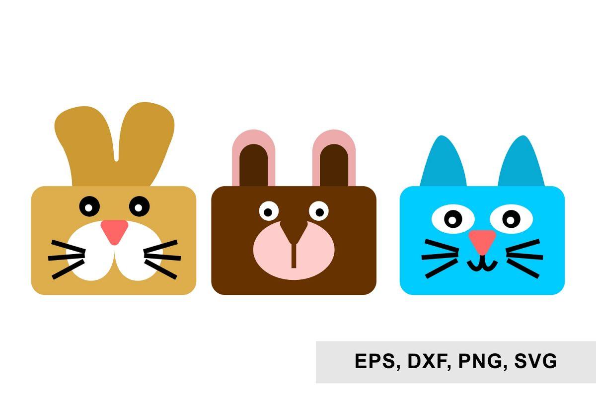 Bear Cats and Rabbits svg, Svg files example image 1