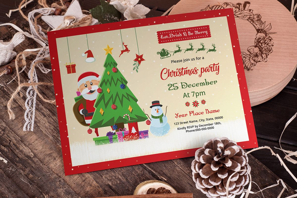 Christmas Party Invitation example image 1