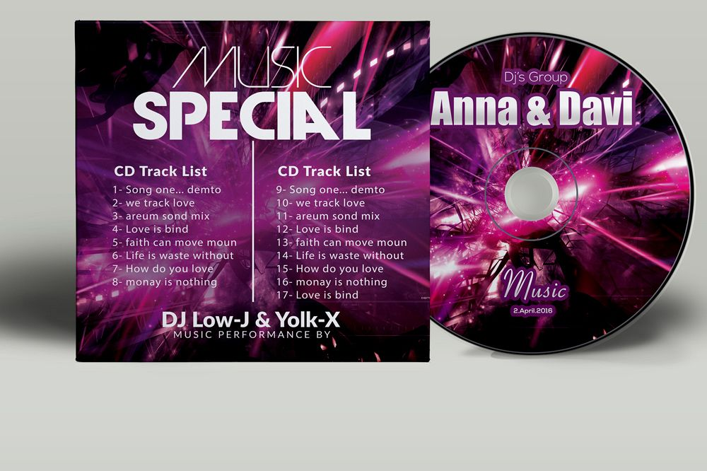 CD Covers Template example image 1