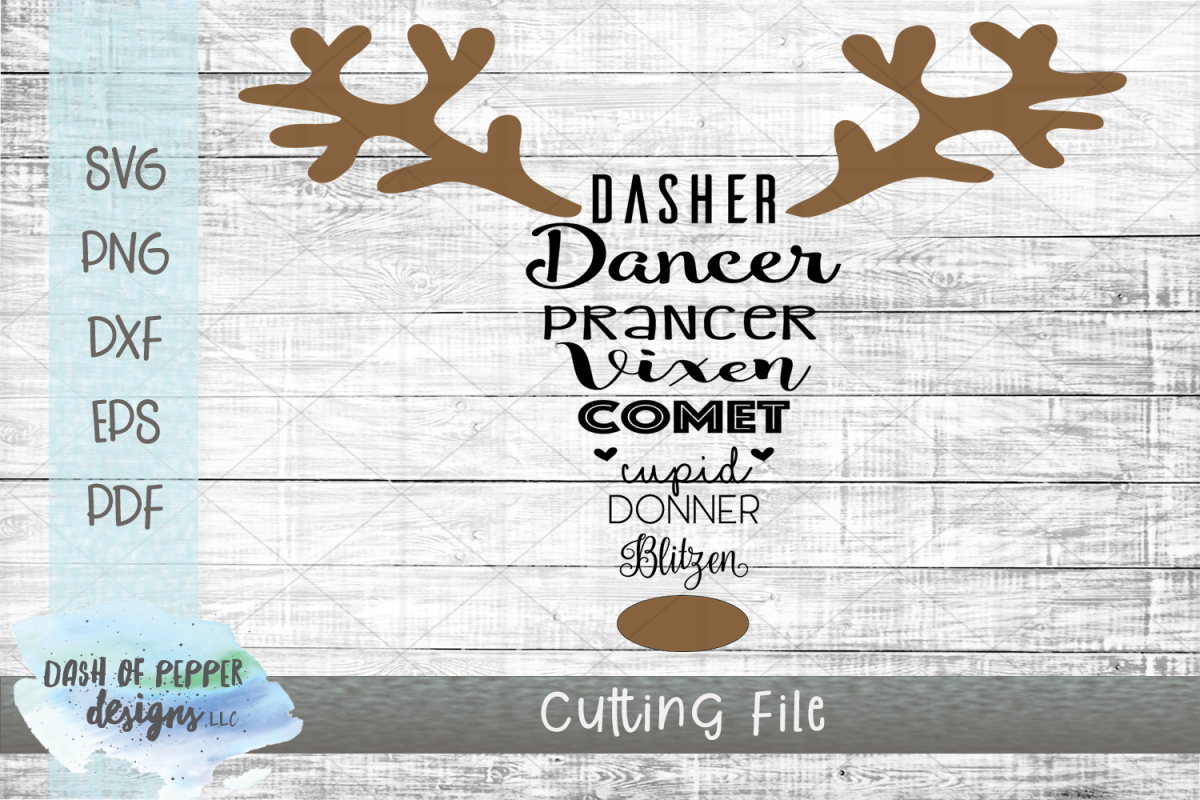 Reindeer Names SVG - A Christmas SVG example image 1