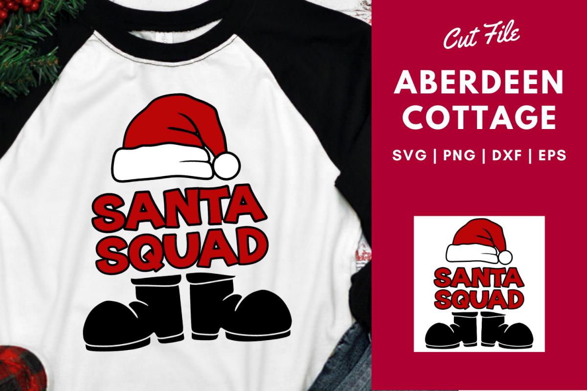 Santa Squad 2   Santa Hat   Santa Boots   Christmas SVG example image 1