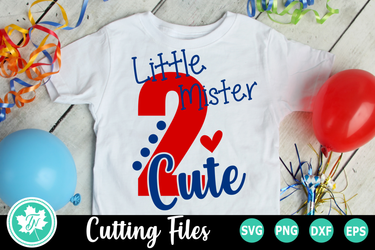 Little Mister 2 Cute - A Second Birthday SVG Cut File example image 1